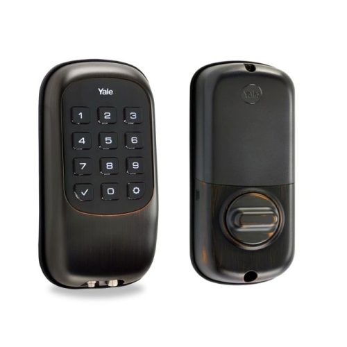 Yale Real Living YRD120NR0BP Keyless Touchscreen Stand Alone Deadbolt Oil Rubbed Bronze Finish