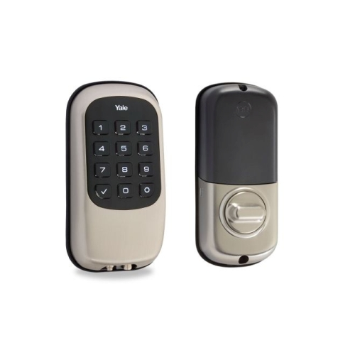 Yale Real Living YRD120NR619 Keyless Touchscreen Stand Alone Deadbolt Satin Nickel Finish