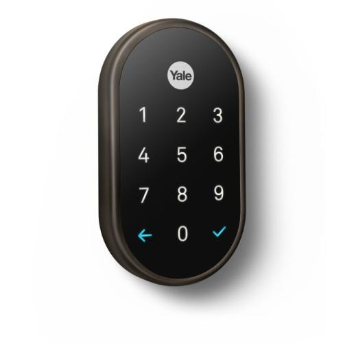Yale Real Living YRD540WV10BP Standalone Nest x Yale Weave Lock Oil Rubbed Bronze Permanent Finish