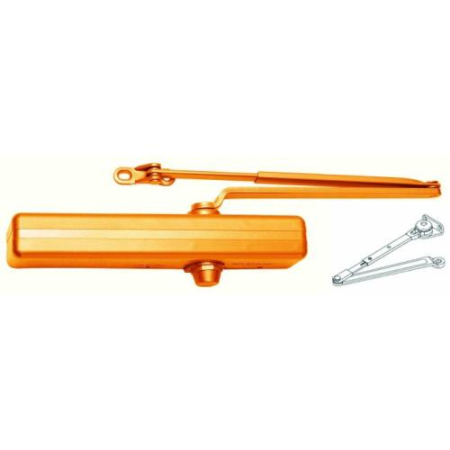 LCN P1461HLTB Parallel Arm Adjustable Surface Mounted Hold Open Door Closer with Thru Bolts Light Bronze Finish