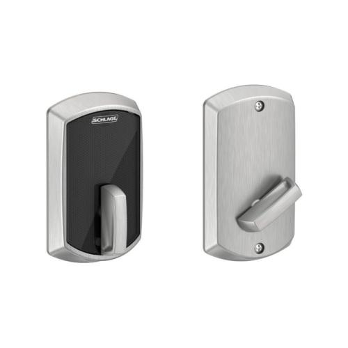 Schlage Residential BE467FGRW626 Greenwich Control Keyless Smart Fire Rated Deadbolt with 12398 Latch and 10116 Strike Satin Chrome Finish