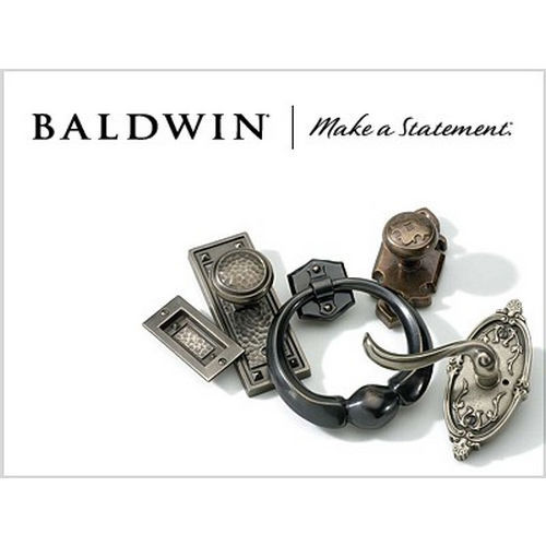 Baldwin 6950150LFD Kensington Left Hand Full Dummy Mortise Lock Trim Blank Plates Satin Nickel Finish