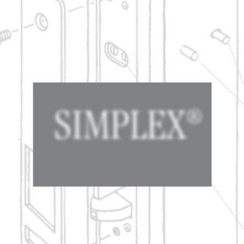 Simplex 103103 Mechanical Pushbutton Knob Lock Combination Passage with 2-3/4