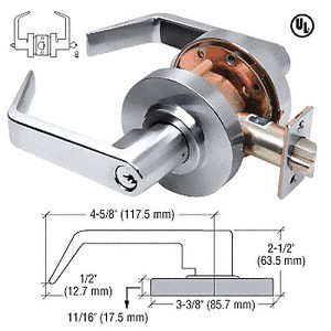 CRL D50ENTCH Lever Locksets Entrance - Schlage 6-Pin, Polished Chrome