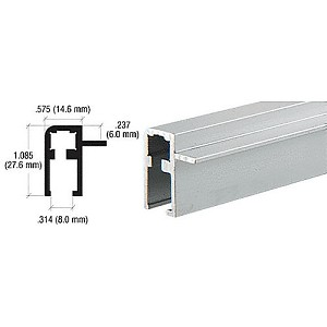 CRL D3005A Side Top Rail Extrusion