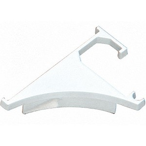 "CRL END38W End Cap for 3/8"" Shelving Extrusion, White"