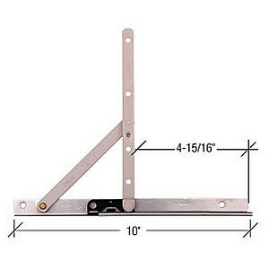 "CRL EP23088 Stainless 10"" Concealed Casement Hinge"