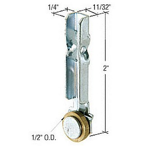 CRL G3156 Flat Edge Sliding Window Roller with Stamped Bracket for International Windows