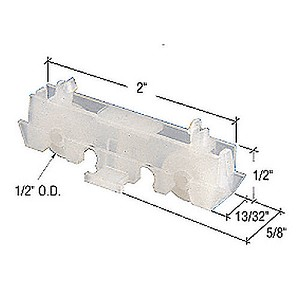 "CRL G3198 Flat Edge Tandem Sliding Window Roller with 5/8"" Housing"