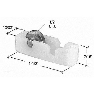 "CRL G3225 Flat Edge Beveled Window Roller Assembly with 13/32"" Housing"