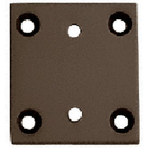 CRL G3SBY0RB Geneva Series 074/574 Wall Mount Short Back Plate
