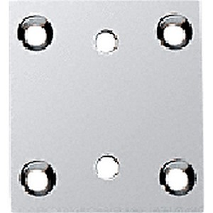 CRL G3SBYCH Geneva Series 074/574 Wall Mount Short Back Plate, Chrome