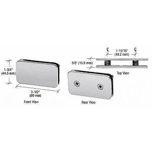 CRL GCB184BSC Traditional Style Double Stud Glass Clamp, Brushed Satin Chrome
