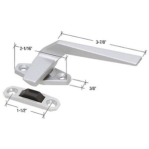 "CRL H3854 RH Casement Window Locking Handle with Offset Base and 1-1/2"" Screw Holes"