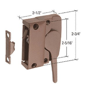 CRL H4025 LH Sash Lock for Andersen Windows, Bronze