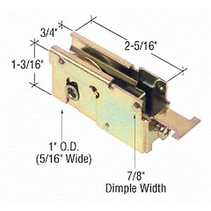 "CRL D1837 Sliding Glass Door Roller with 7/8"" Housing"