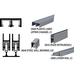 CRL D2204ABB Track Assembly D609 Upper and D602 Lower Track with Ball-Bearing Wheels