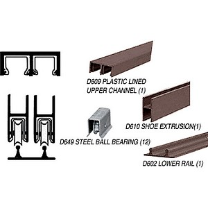 CRL D2204DUBBTrack Assembly D609 Upper & D602 Lower Track with Ball Bearing Wheels