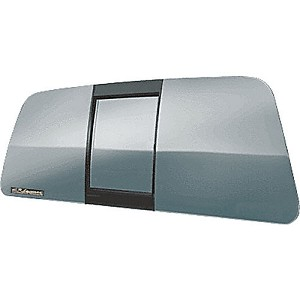 "CRL ECT990LT ""Perfect Fit"" ""All Glass Look"" Tri-Vent Three Panel Slider with Light Gray Glass"