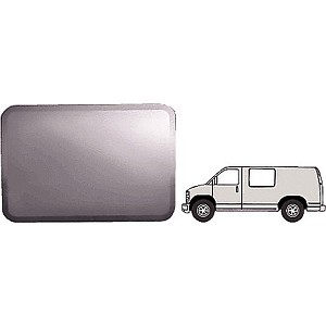 "CRL FW112L Fixed All Glass Look Window, Driver Side Forward 1997+ Chevy/GMC Vans 42-3/4"" x 28-1/4"""