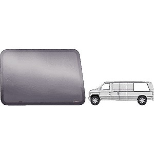 "CRL FW422L Fixed All Glass Look Window, Driver Side Rear 1992+ Ford Vans 43-7/8"" x 28-5/8"""