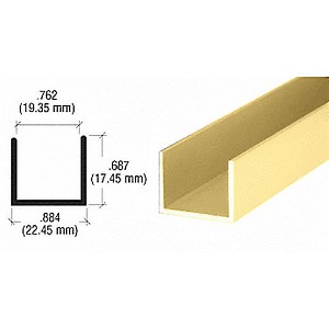CRL D327BGA U Channel, Brite Gold Anodized