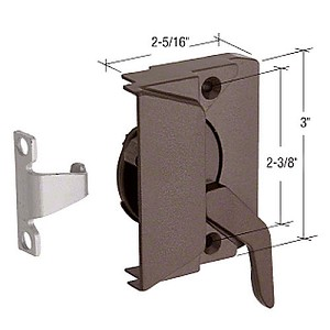 "CRL EP23044 LH Casement Window Lock with 2-3/8"" Screw Holes, Bronze"