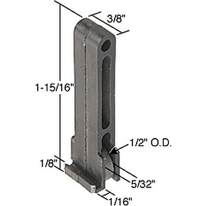 "CRL G3084 Sliding Window Roller with 1/2"" Nylon Wheel 1/16"" Guide Leg"