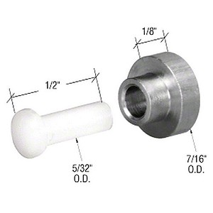 CRL G3098 Stainless Sliding Window Replacement Roller with Axle Pin