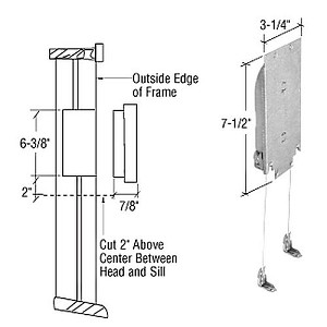 CRL H3869 Pound Adjustable Wood Window Sash Balance