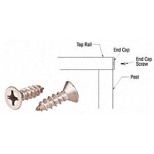 CRL ECS1 End Cap Screws