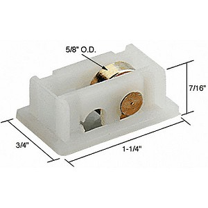 "CRL G3058 Sliding Window Roller with 5/8"" Wheel for Acorn Series 2100 thru 2300 Old Style Windows"