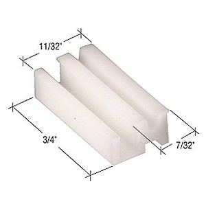 CRL G3100B Sliding Window Bottom Guide for Alenco Windows, Bulk -40 Pack