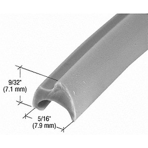 CRL GS118C Glazing Spline, 100' Roll, Gray