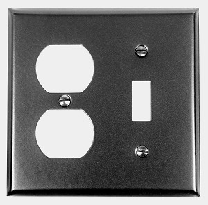 Acorn AW6BP Duplex Wall Plate 1 Toggle