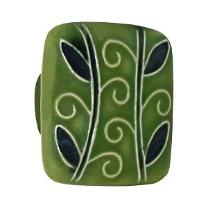 Acorn PS4YP Large Square Knob Dark Green w/2 Branches
