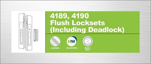 Adams Rite 4190-10-3-130-02-IB Flush Lock Individually Boxed