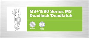Adams Rite MS+1890-4026-628 MS+ Deadlock/Latch, Clear Aluminum Anodized