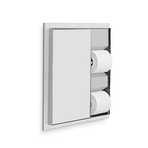 AJW U865A Dual Stall Toilet Tissue Dispenser, Partition Mounted