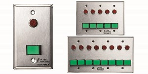 "Alarm Controls SLP-1L Monitoring/Control Station Single Gang Stainless Steel 1Ea Dsw-4 III Gn 12V 1Ea 1/2"" Red LED"