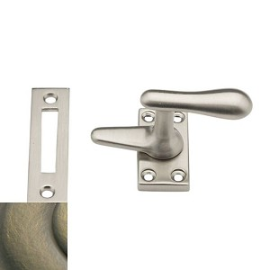 Baldwin 0496050 Casement Fastener With Mortise Strike, Antique Brass