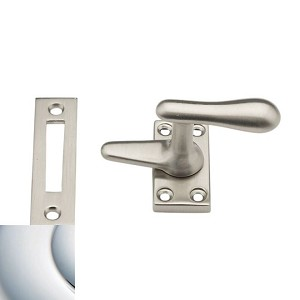Baldwin 0496260 Casement Fastener With Mortise Strike, Bright Chrome