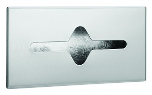 Bradley 987-360000 Facial Tissue Dispenser, Recessed