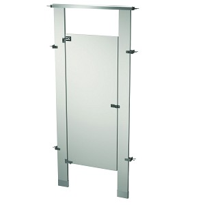 Bradley BW13660-WGR Locker Powder Coat, One Between Wall, Warm Gray