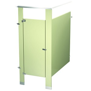 Bradley IC13660-ALM Locker Powder Coat, One CORNR Wall, Almond