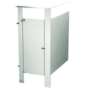 Bradley IC13660-WGR Locker Powder Coat, One Corner Wall, Warm Gray