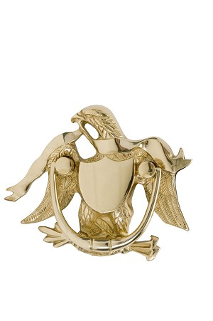 "Brass Accents A04-K2000 Eagle Knocker 5-7/8"", Polished Brass"