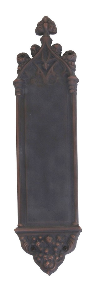 "Brass Accents A04-P5600-613VB Gothic 3-3/8"" x 16"" Push Plate, Venetian Oil Rubbed Bronze"
