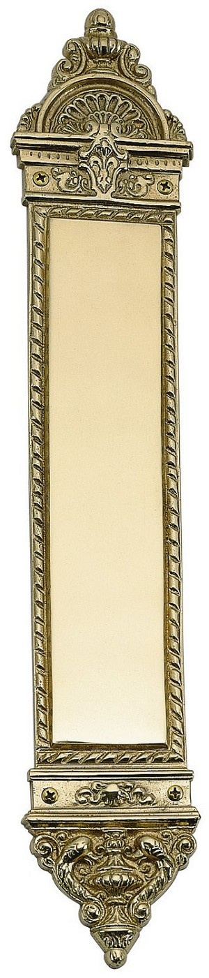 "Brass Accents A04-P8600 European Push Plate 3"" x 16-1/4"", Satin Nickel"