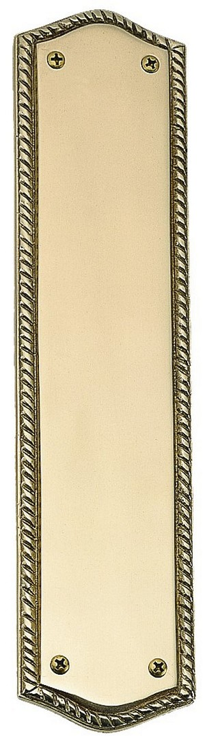 "Brass Accents A06-P0250 Oval Rope Push Plate 2-1/2"" x 10-1/2"", Oil-Rubbed Bronze"